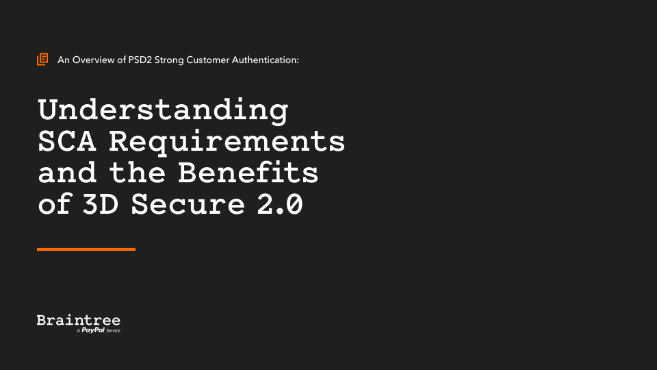An Overview of PSD2 Strong Customer Authentication